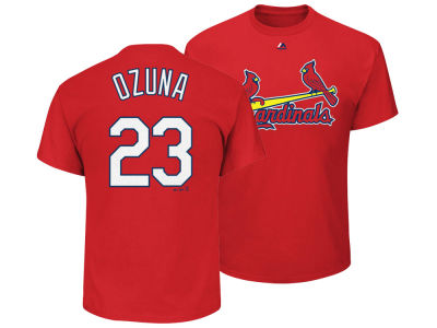 St. Louis Cardinals Marcell Ozuna Majestic MLB Toddler Official Player T-Shirt