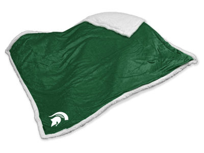 Michigan State Spartans Logo Brands Sherpa Throw