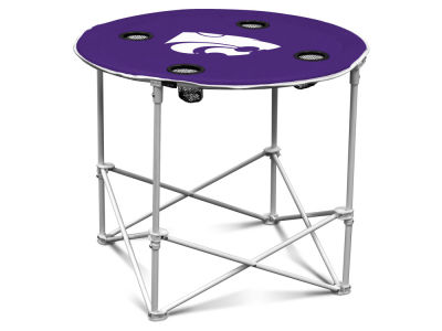 Kansas State Wildcats Logo Brands Round Folding Table