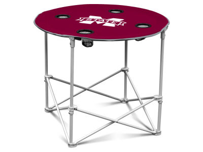 Mississippi State Bulldogs Logo Brands Round Folding Table