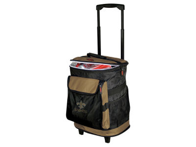 New Orleans Saints Logo Brands Rolling Cooler V