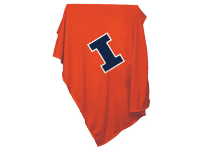 Illinois Fighting Illini Logo Brands Sweatshirt Blanket