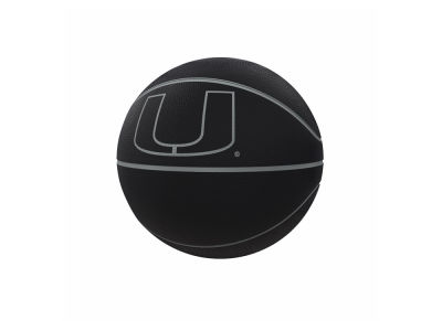 Miami Hurricanes Logo Brands Blackout Full-Size Composite Basketball