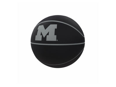 Michigan Wolverines Logo Brands Blackout Full-Size Composite Basketball