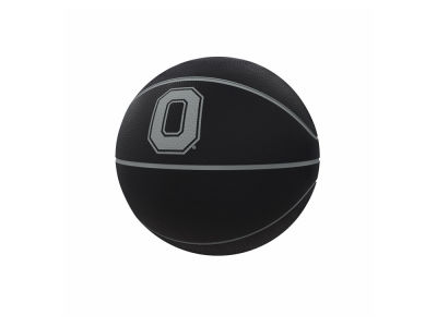 Ohio State Buckeyes Logo Brands Blackout Full-Size Composite Basketball