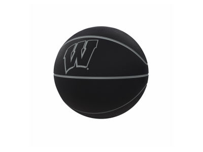 Wisconsin Badgers Logo Brands Blackout Full-Size Composite Basketball