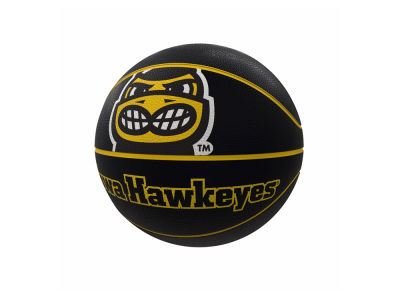 Iowa Hawkeyes Logo Brands Mascot Official-Size Rubber Basketball