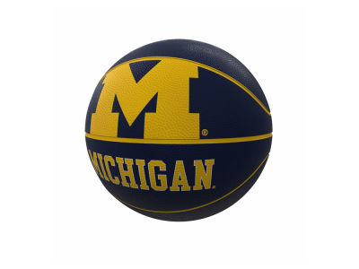 Michigan Wolverines Logo Brands Mascot Official-Size Rubber Basketball