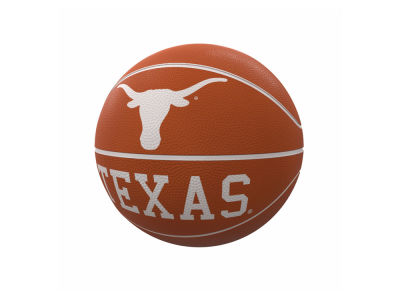Texas Longhorns Logo Brands Mascot Official-Size Rubber Basketball