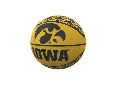 Iowa Hawkeyes Logo Brands Repeating Logo Mini-Size Rubber Basketball