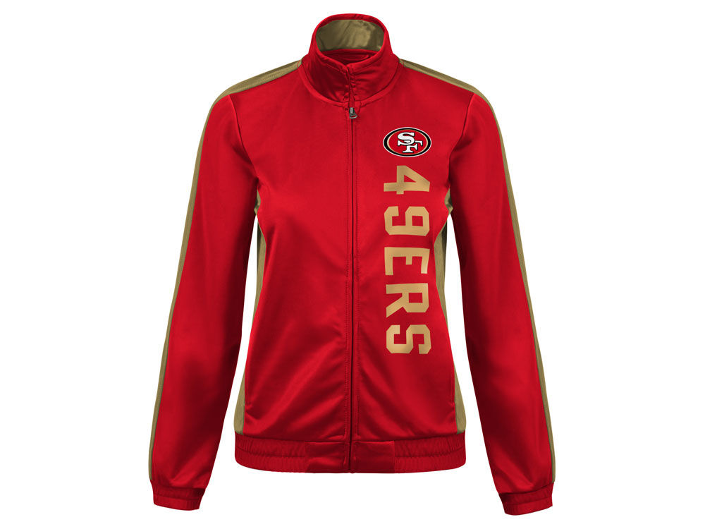 San Francisco 49ers G-III Sports NFL Women s Backfield Track Jacket ... 8c39aeaa13