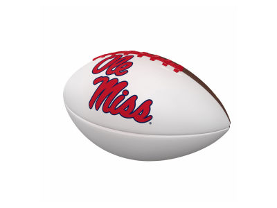 Ole Miss Rebels Logo Brands Official-Size Autograph Football V