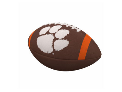 Clemson Tigers Logo Brands Team Stripe Official-Size Composite Football