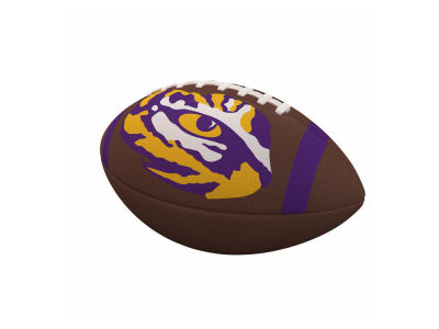 LSU Tigers Logo Brands Team Stripe Official-Size Composite Football