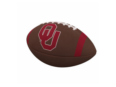 Oklahoma Sooners Logo Brands Team Stripe Official-Size Composite Football