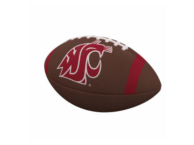 Washington State Cougars Logo Brands Team Stripe Official-Size Composite Football