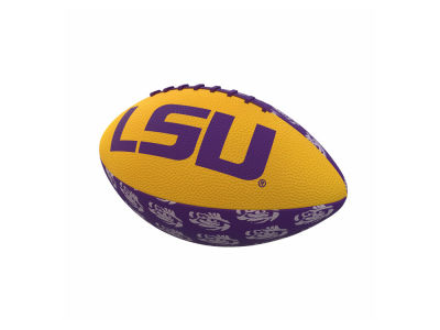 LSU Tigers Logo Brands Repeating Mini-Size Rubber Football