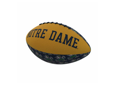 Notre Dame Fighting Irish Logo Brands Repeating Mini-Size Rubber Football