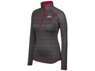 Ohio State Buckeyes Top of the World NCAA Women's Ready Set Go Quarter Zip Pullover