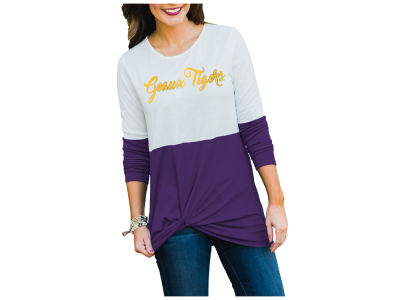 LSU Tigers Gameday Couture NCAA Women's Colorblock Twist Long Sleeve T-Shirt