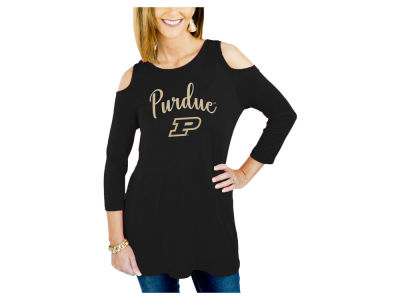 Purdue Boilermakers Gameday Couture NCAA Women's Cold Shoulder Tunic