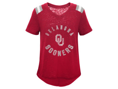 Oklahoma Sooners Outerstuff NCAA Girls Retro Block T-Shirt