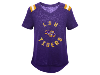 LSU Tigers Outerstuff NCAA Girls Retro Block T-Shirt