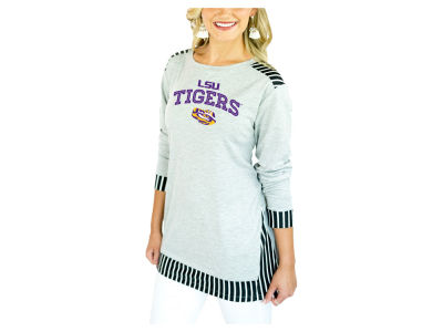 LSU Tigers Gameday Couture 2018 NCAA Women's Striped Panel Long Sleeve T-Shirt