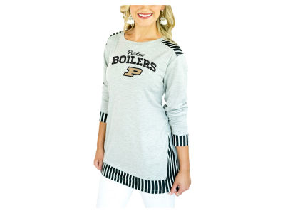 Purdue Boilermakers Gameday Couture 2018 NCAA Women's Striped Panel Long Sleeve T-Shirt