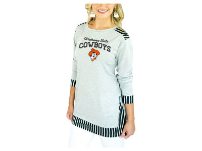 Oklahoma State Cowboys Gameday Couture 2018 NCAA Women's Striped Panel Long Sleeve T-Shirt