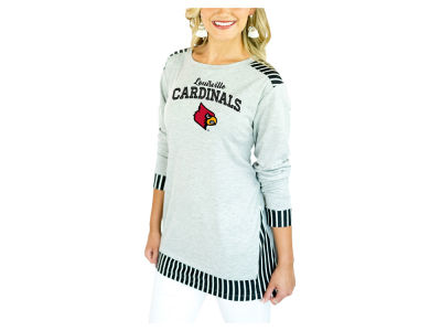 Louisville Cardinals Gameday Couture 2018 NCAA Women's Striped Panel Long Sleeve T-Shirt