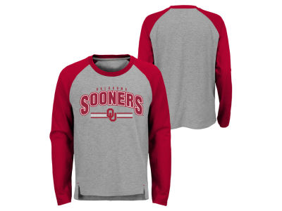 Oklahoma Sooners Outerstuff NCAA Kids Audible Long Sleeve Raglan T-shirt