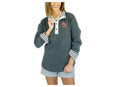 Oklahoma Sooners Gameday Couture NCAA Women's Snap Quilted Pullover