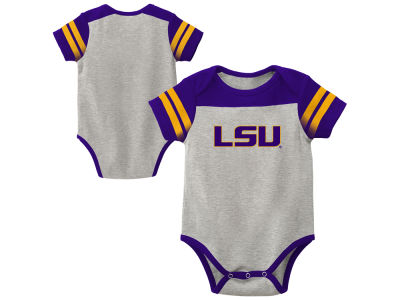 LSU Tigers Outerstuff NCAA Infant Lil Blocker 2.0 Creeper