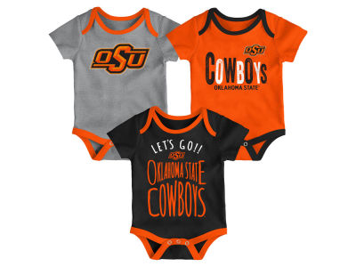 Oklahoma State Cowboys Outerstuff NCAA Newborn Lil Tailgater 3 Piece Set