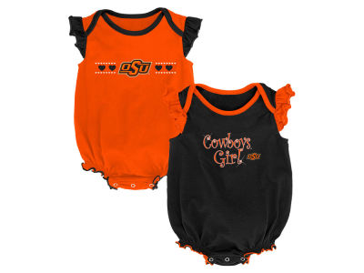 Oklahoma State Cowboys Outerstuff NCAA Newborn Girls Homecoming 2 Pack
