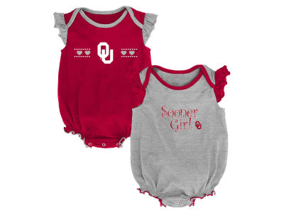 Oklahoma Sooners Outerstuff NCAA Newborn Girls Homecoming 2 Pack