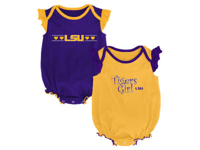 LSU Tigers Outerstuff NCAA Newborn Girls Homecoming 2 Pack