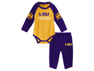 LSU Tigers Outerstuff NCAA Newborn Future Starter Creeper Pant Set