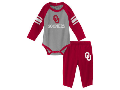 Oklahoma Sooners Outerstuff NCAA Newborn Future Starter Creeper Pant Set