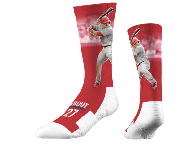 Mike Trout Strideline Full Sublimation Crew Socks