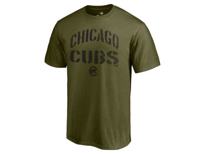 Chicago Cubs Majestic MLB Men's Stencil Wordmark T-Shirt