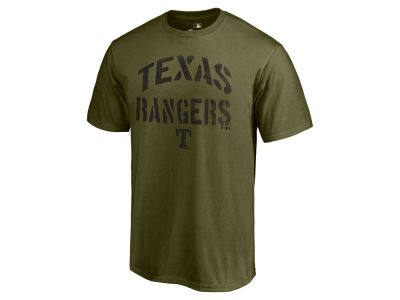 Texas Rangers Majestic MLB Men's Stencil Wordmark T-Shirt