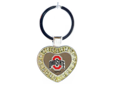 NCAA Metal Heart Keychain