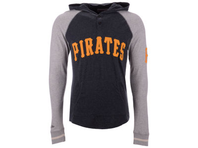 Pittsburgh Pirates Mitchell & Ness MLB Men's Slugfest Lightweight Hooded Long Sleeve T-shirt