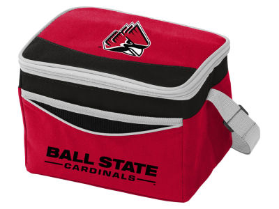 Ball State Cardinals Logo Brands Blizzard 6 Pack Cooler