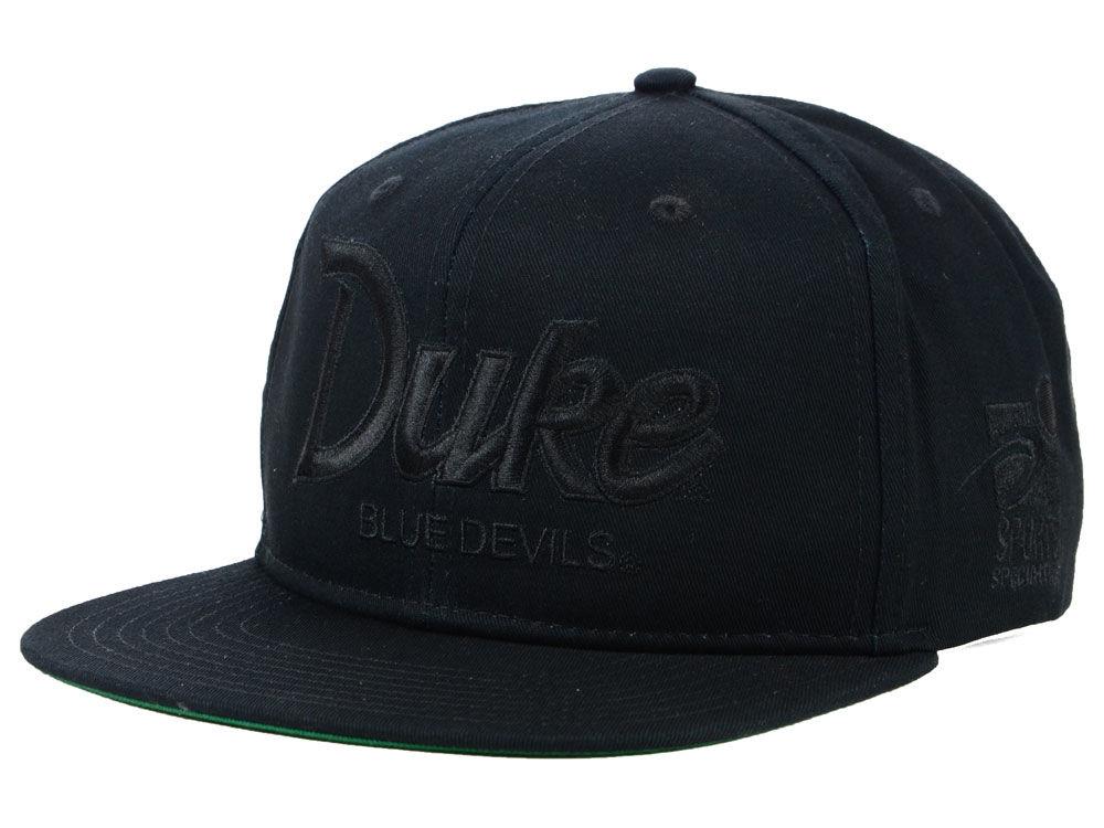 dc3a884d ... closeout duke blue devils nike ncaa sport specialties black on black  snapback cap 44e93 5fe85