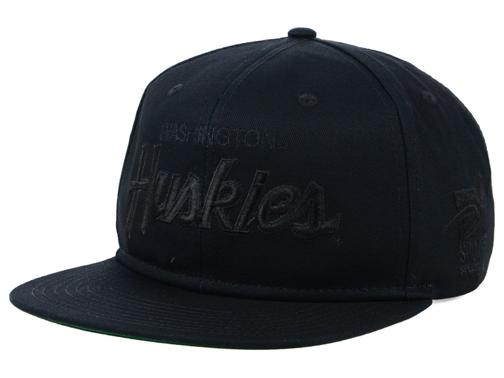 bfebc18545cb7 ... cheapest washington huskies nike ncaa sport specialties black on black snapback  cap 9d753 98725