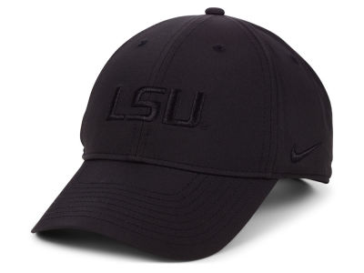 LSU Tigers Nike NCAA L91 Black on Black Adjustable Cap