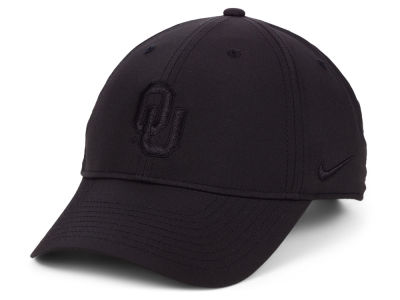 Oklahoma Sooners Nike NCAA L91 Black on Black Adjustable Cap